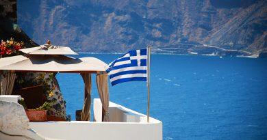 Santorin dans les Cyclades