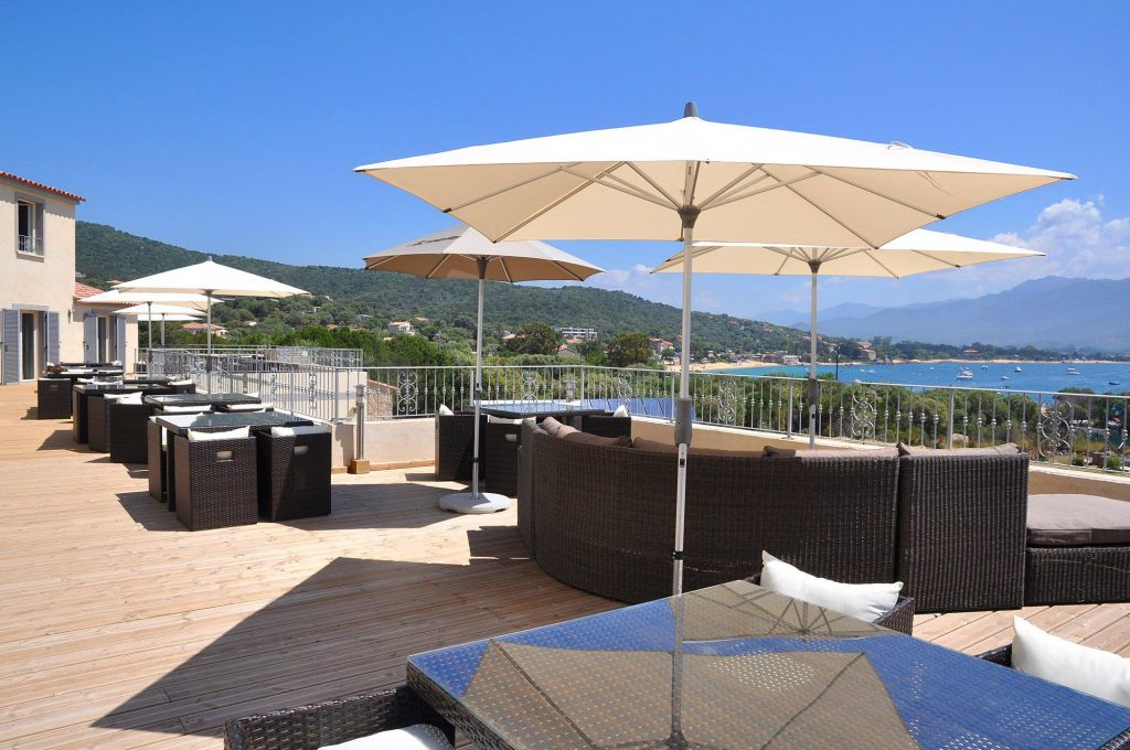L'hôtel Casa Murina à porto Pollo en Corse