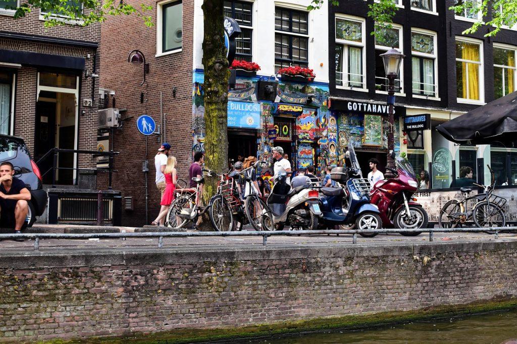 Coffe shop à Amsterdam